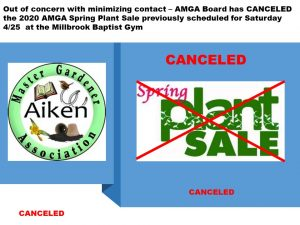 AMGA Plant Sale - Canceled @ Millbrook Baptist Church
